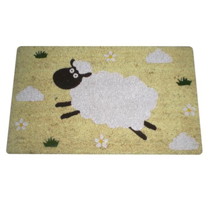 paillasson fibre de coco design mouton achat vente paillasson cdiscount. Black Bedroom Furniture Sets. Home Design Ideas