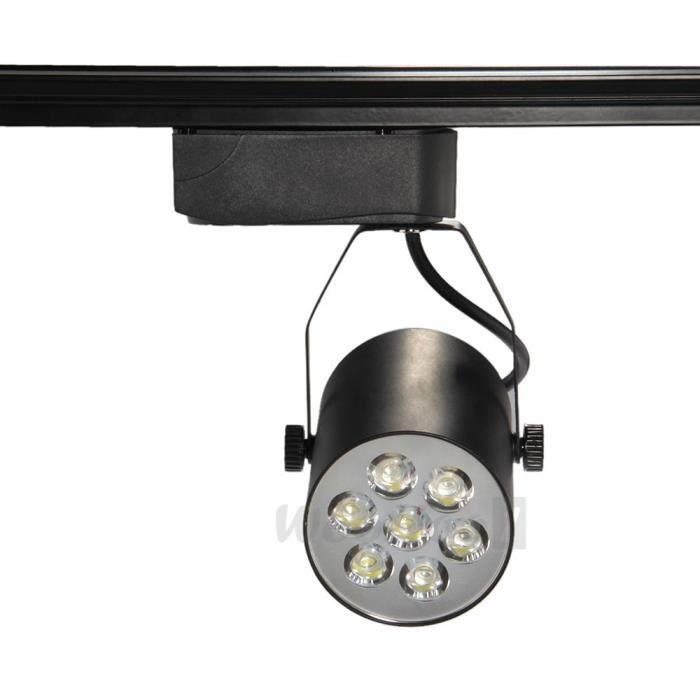 7w 7leds 500lm lampe spot rail plafonnier lustr achat. Black Bedroom Furniture Sets. Home Design Ideas