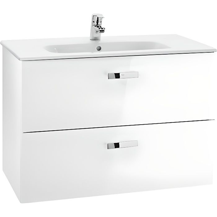 meuble de salle de bain unik victoria blanc avec son lavabo en c ramique achat vente salle. Black Bedroom Furniture Sets. Home Design Ideas