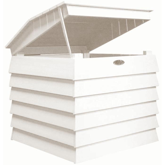 Bac Compost En Bois Peint Blanc Achat Vente Composteur Accessoire Bac Compost En