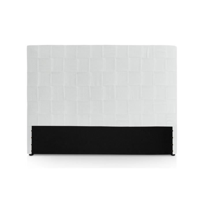 t te de lit capitonn e 160 cm pu aspect cuir bl achat vente t te de lit cadeaux de no l. Black Bedroom Furniture Sets. Home Design Ideas