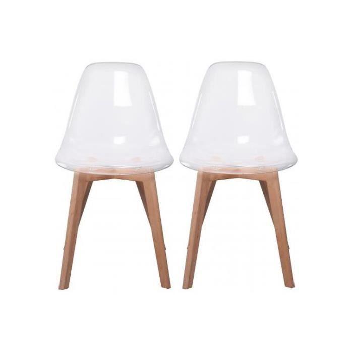 Lot de 2 chaises scandinave transparente fjord achat - Chaise transparente scandinave ...