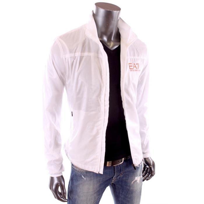 ea7 ventus 7 veste coupe vent blanc homme t 2015 271624 5p260 blanc achat vente veste. Black Bedroom Furniture Sets. Home Design Ideas