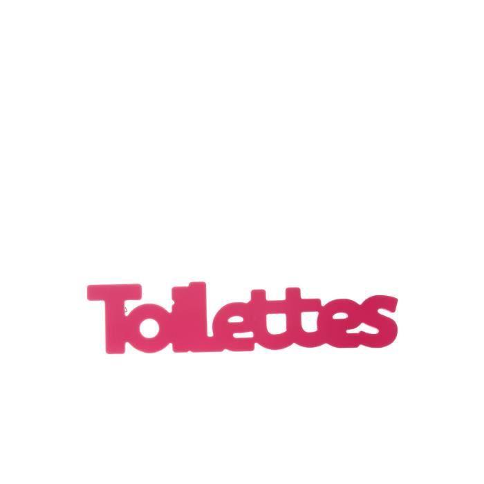 plaque de porte toilettes achat vente plaque de porte lettre decorative cdiscount. Black Bedroom Furniture Sets. Home Design Ideas