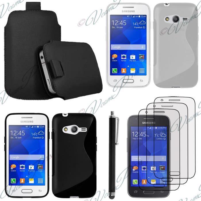 Pour samsung galaxy trend 2 lite sm g318h noir lot coque etui housse pochette accessoires - Samsung trend lite pas cher ...