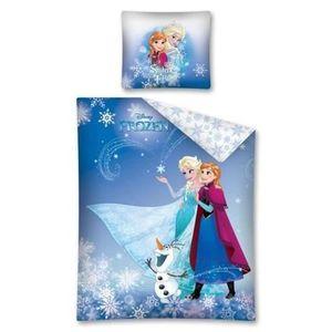Parure de lit reine des neiges 70x140 achat vente - Parure de lit elsa la reine des neiges ...