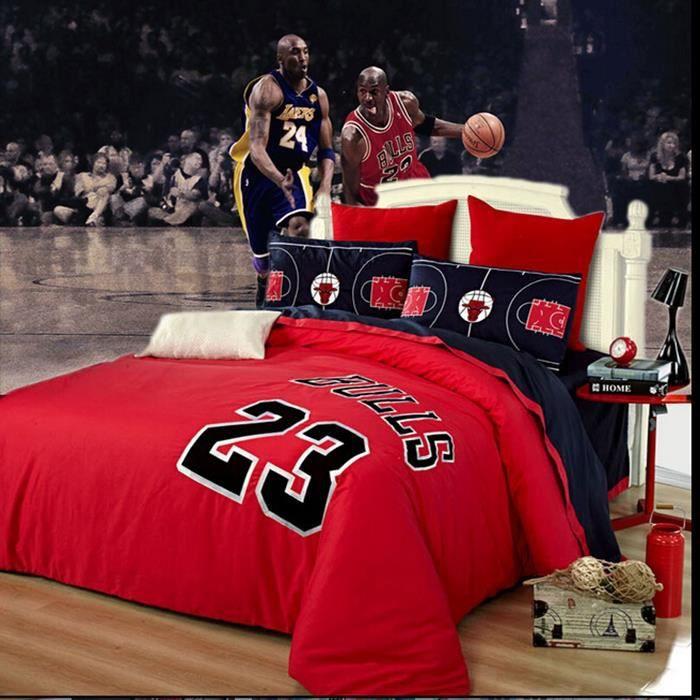 parure de lit housse de couette basket jordanie 23 jor de guitare de lit rouges parure