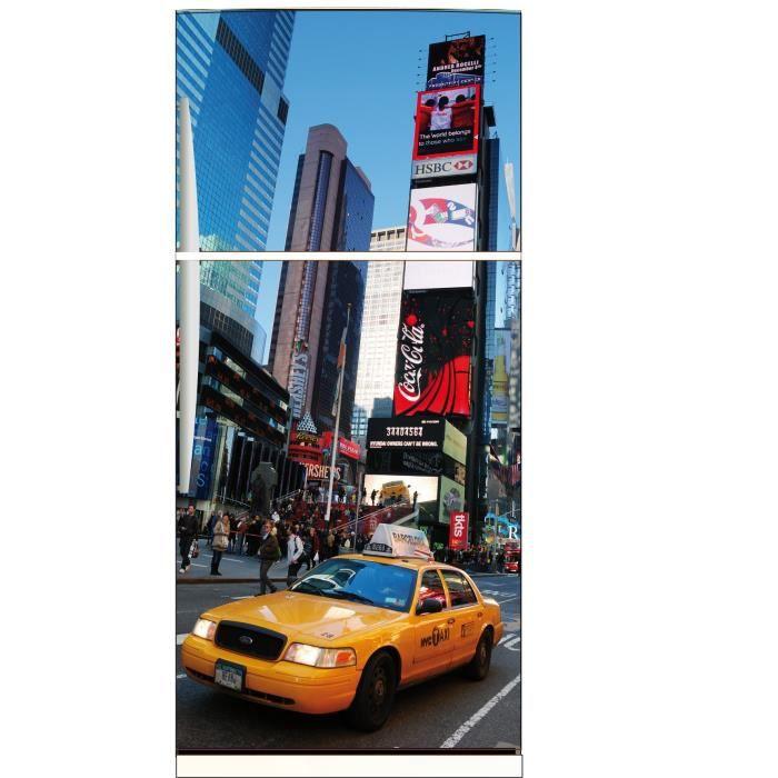 Sticker frigo d co cuisine new york taxi jaune achat for Deco taxi new york