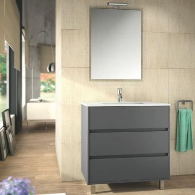 meuble salle de bain 80 cm couleur gris achat vente salle de bain complete meuble salle de. Black Bedroom Furniture Sets. Home Design Ideas
