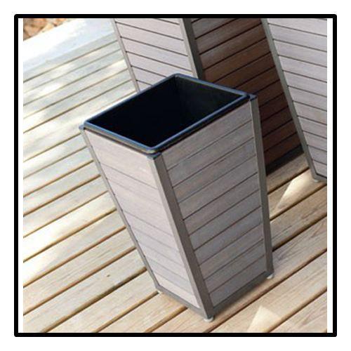 Cache Pots Jardini Re Aluminium Et Bois Compo Achat