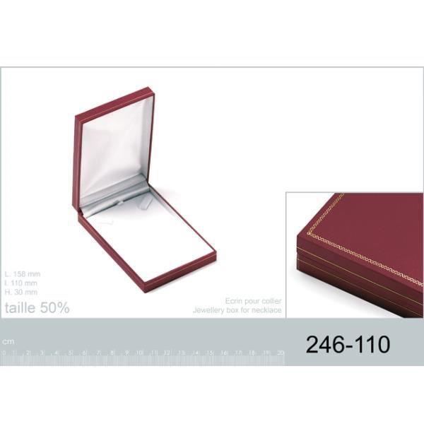 Ecrin boite cadeaux bijoux rouge pour collier achat - Boite a bijoux pour collier ...