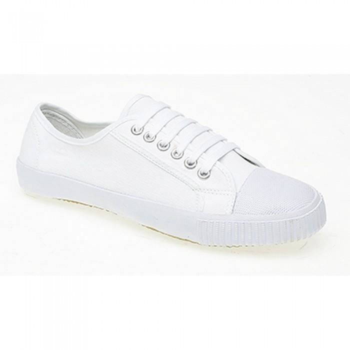dek chaussures en toile gar on blanc achat vente basket cdiscount. Black Bedroom Furniture Sets. Home Design Ideas