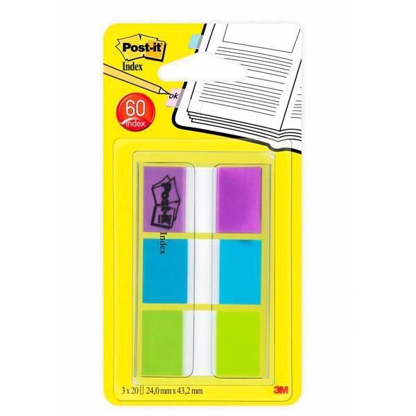 post it marque pages standards lot de 3x20 coloris bleu vert et violet achat vente. Black Bedroom Furniture Sets. Home Design Ideas