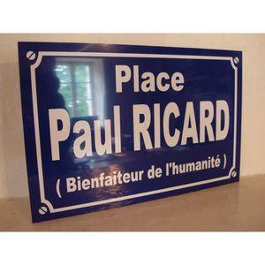 Apéritif anisé Paul RICARD plaque de rue objet collector /cadeau