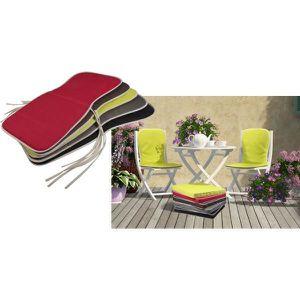 Coussin assise dossier chaise de jardin achat vente - Coussin de chaise avec dossier ...