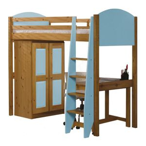 lit avec armoire integre achat vente lit avec armoire integre pas cher cdiscount. Black Bedroom Furniture Sets. Home Design Ideas