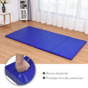 TAPIS DE SOL FITNESS Tapis de sol gymnastique pliable portable bleu nat