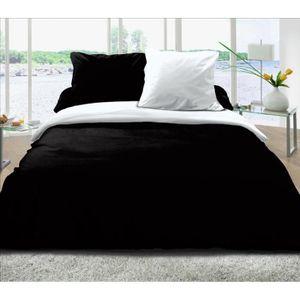 drap de lit noir et blanc achat vente drap de lit noir. Black Bedroom Furniture Sets. Home Design Ideas