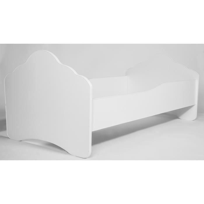 kobi lit enfant blanche sommier matelas 160x80 cm achat. Black Bedroom Furniture Sets. Home Design Ideas