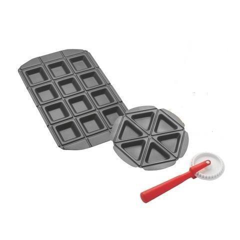 moule chaussons raviolis feuillete mini tarte pizza portions predecoupees lot 2 moules. Black Bedroom Furniture Sets. Home Design Ideas