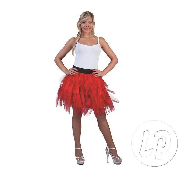 jupe en tulle rouge femme taille unique achat vente d guisement panoplie cdiscount. Black Bedroom Furniture Sets. Home Design Ideas