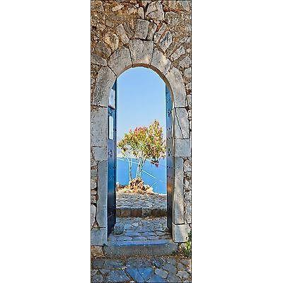 Papier peint pour porte trompe l oeil d co belle vue r f 102 dimensions 93x204cm achat - Papier peint porte pour ...