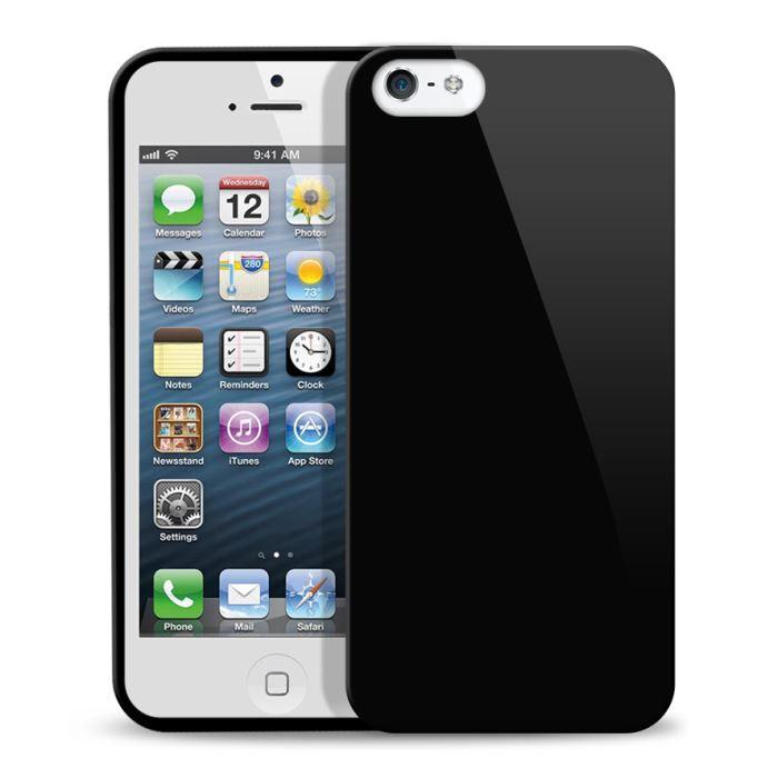 coque iphone 5 silicone glossy noir achat coque bumper pas cher avis et meilleur prix. Black Bedroom Furniture Sets. Home Design Ideas