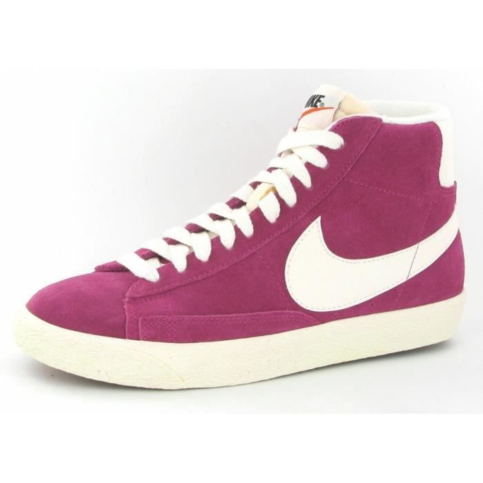 chaussures nike blazer high sued femme rose achat. Black Bedroom Furniture Sets. Home Design Ideas