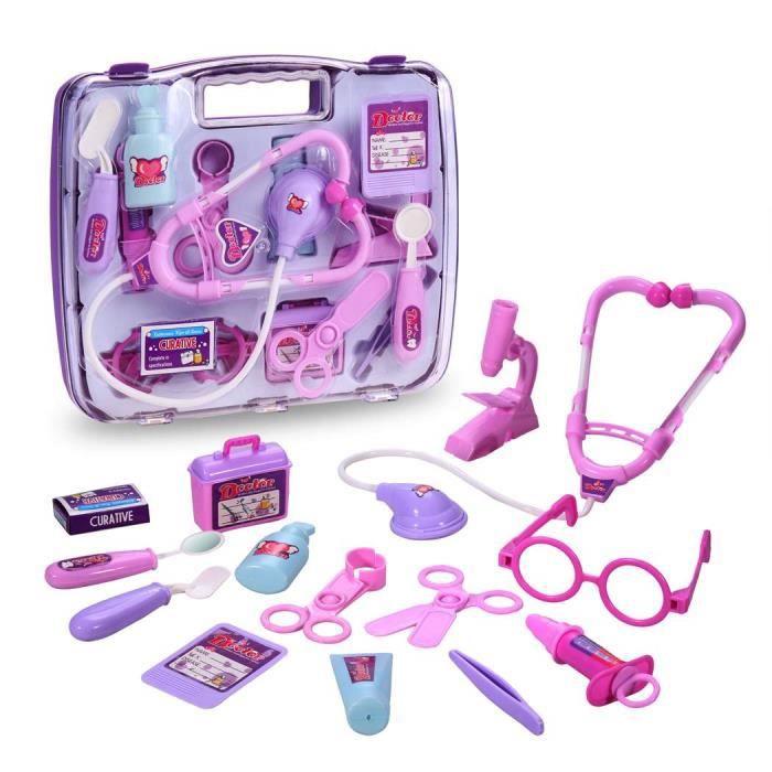 Enfants jouets ducatifs kit m decin infirmi re achat vente docteur v t rinaire cdiscount - Docteur la peluche malette ...
