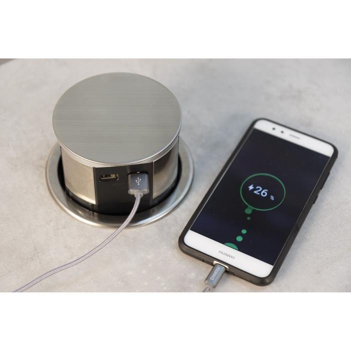Bloc compact inox 3 prises 16a 2usb achat vente adaptateur de voyage 3415547600977 cdiscount - Bloc cuisine compact ...