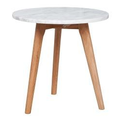 Table d 39 appoint ronde zuiver white stone medium achat for Table d appoint ronde