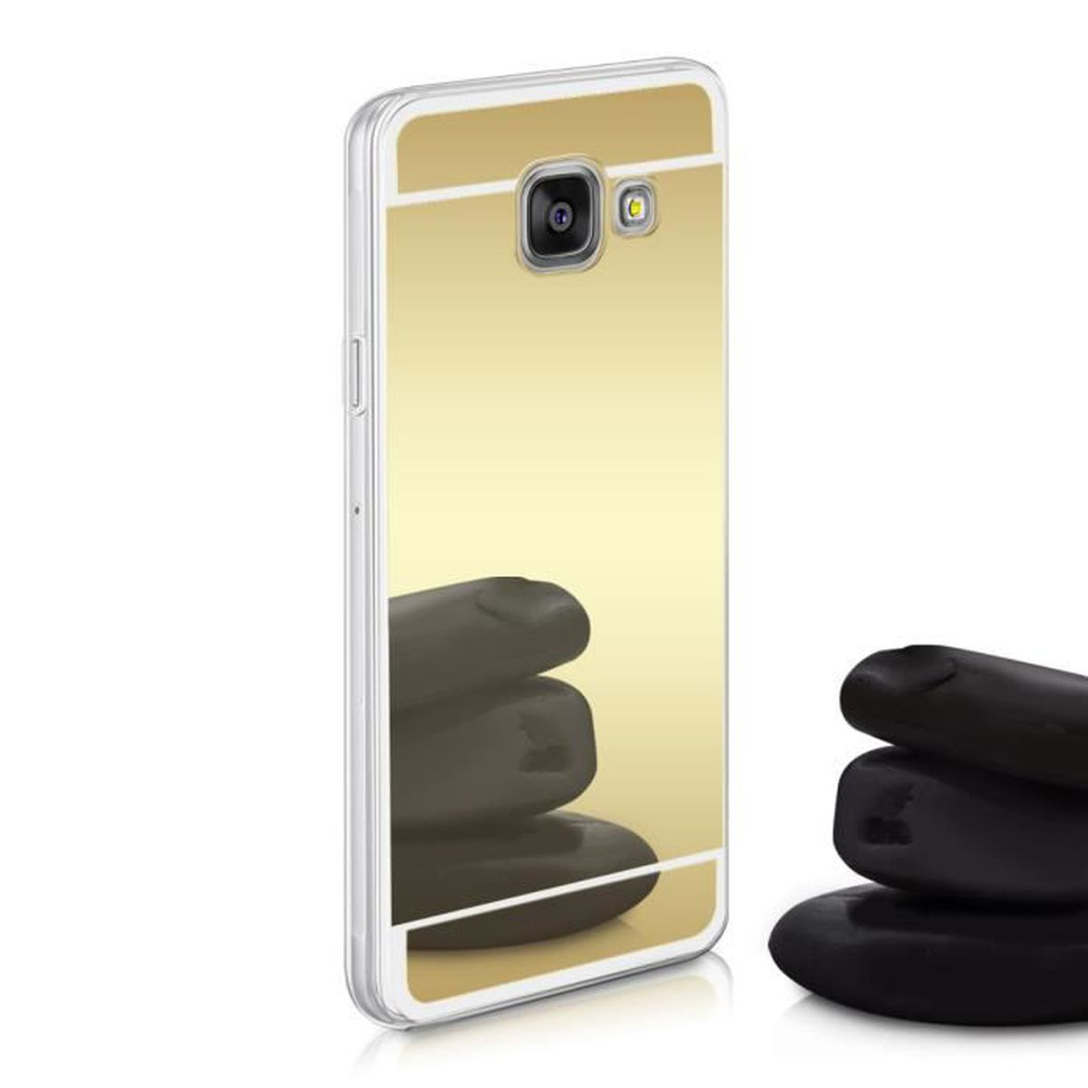 kwmobile housse miroir pour samsung galaxy a3 2016 tui. Black Bedroom Furniture Sets. Home Design Ideas