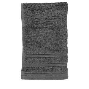 serviette invit gris anthracite achat vente serviettes de bain cdiscount. Black Bedroom Furniture Sets. Home Design Ideas
