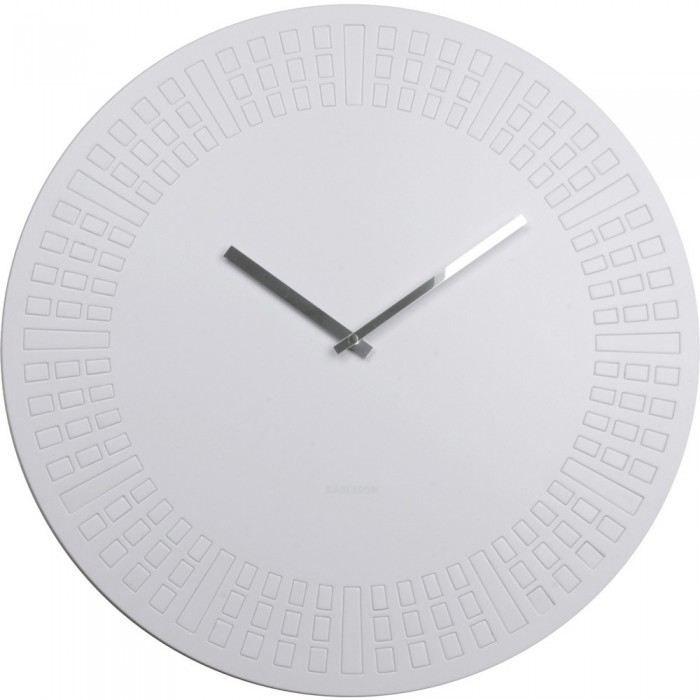 horloge g ante blanche laz couleur blanc mati re plastique transformez la d co de votre pi ce. Black Bedroom Furniture Sets. Home Design Ideas