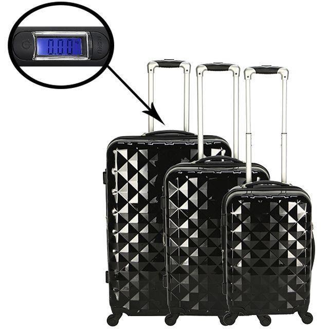 set de 3 valises diamand plus achat vente set de valises 2009903049978 cdiscount. Black Bedroom Furniture Sets. Home Design Ideas