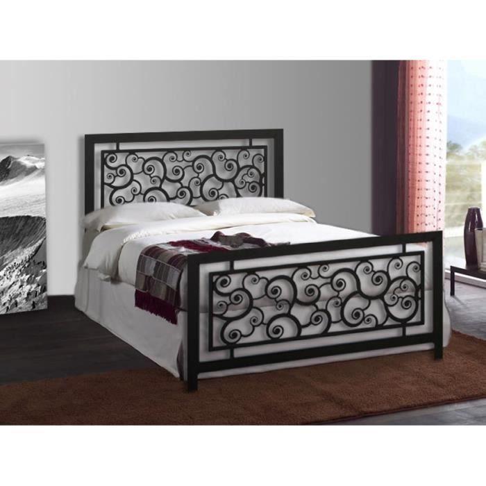 Lit en fer forg mod le escargots achat vente structure de lit solde - Les lits en fer forge ...