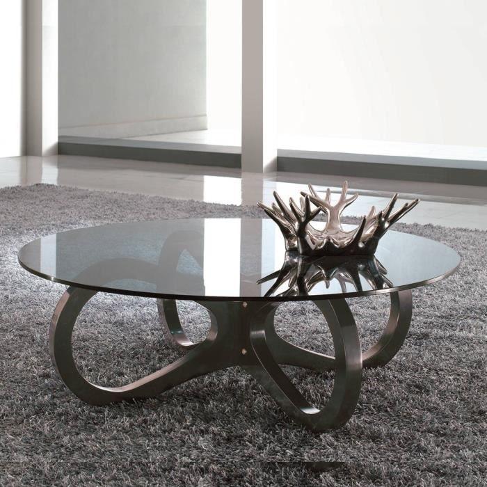 Les concepteurs artistiques table basse ronde verre for Table basse ronde en verre design