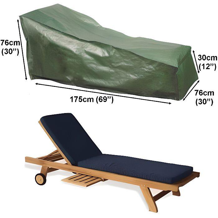 Housse pour chaise longue bain de soleil 175cm gamme for Housse bain de soleil