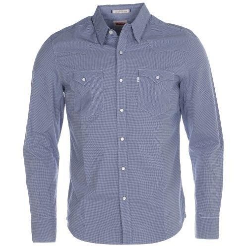 chemise homme levi 39 s western bl bleu achat vente chemisier blouse chemise homme levi 39 s. Black Bedroom Furniture Sets. Home Design Ideas