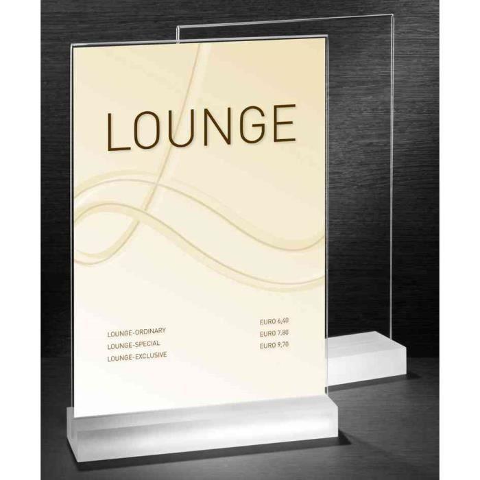 Pr sentoir de table frozenacrylic a4 hauteur dr achat - Cadre photo plexiglas a4 ...