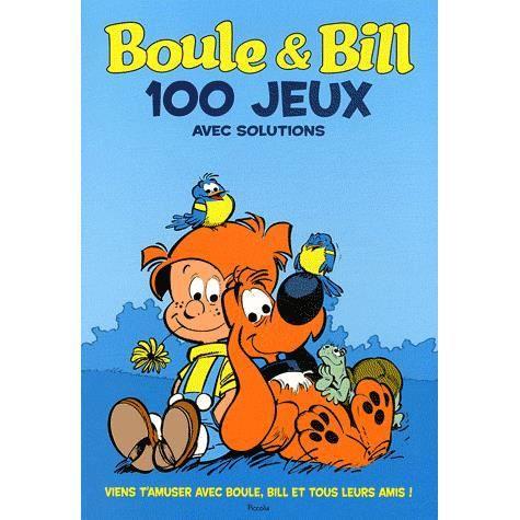 100 jeux avec boule et bill achat vente livre collectif piccolia parution 02 juin 2011 pas. Black Bedroom Furniture Sets. Home Design Ideas