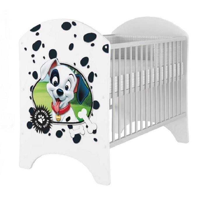 lit de bebe 120x60 belle disney 101 dalmatiens achat. Black Bedroom Furniture Sets. Home Design Ideas