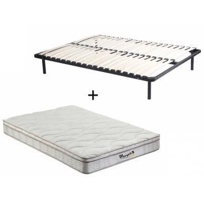 ensemble cadre lattes matelas ressorts 3 zones et m moire de forme wolkentanz de morgengold. Black Bedroom Furniture Sets. Home Design Ideas