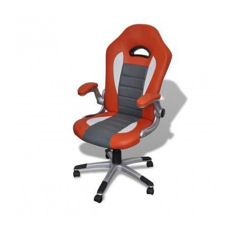 Fauteuil en cuir moderne de bureau design orange achat vente chaise de bu - Fauteuil cuir moderne ...