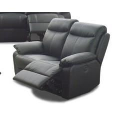 Canap 2 places en cuir avec 2 relax lectriques 150 cm robert l 150 x p 95 - Canape 2 places relax cuir ...