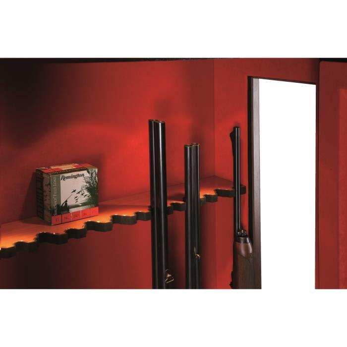 armoire fusils porte vitr e 8 armes mod le d 39 angle bois noyer achat vente armoire fusil. Black Bedroom Furniture Sets. Home Design Ideas