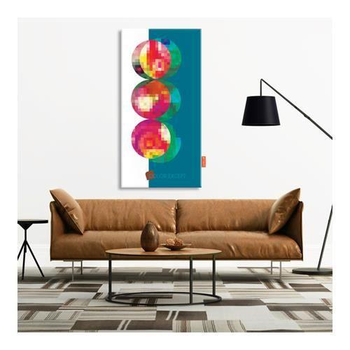 Tableau d co design vertical color pixel color except plexi tr - Tableau colore design ...