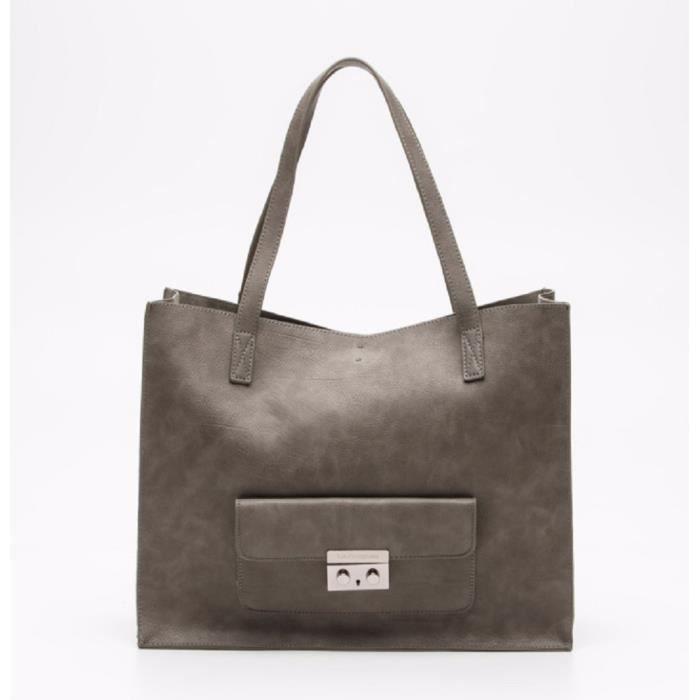 Cabas lulu catagnette livr avec une pochette liens - Pochette rangement pour sac a main ...