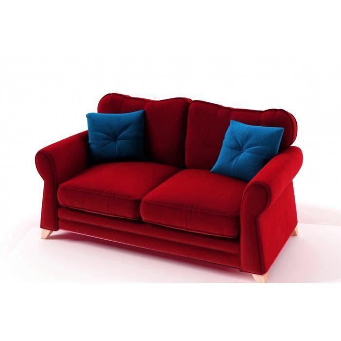 canap 3 places en tissu de qualit tomy achat vente. Black Bedroom Furniture Sets. Home Design Ideas