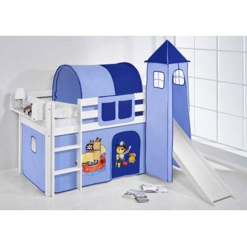 lit enfant mezzanine complet comme sur la photo le lot comprend le lit en pin massif. Black Bedroom Furniture Sets. Home Design Ideas